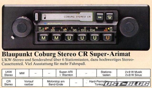 Blaupunkt Coburg Stereo CR