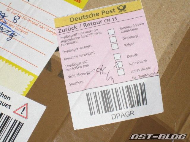 paket zurück