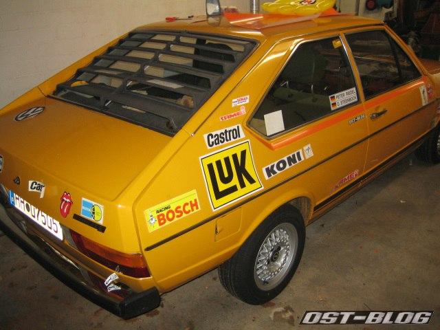 Passat 32 1976 Rallye aufkleber probe heck