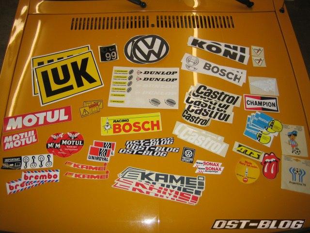 Passat 32 1976 Rallye aufkleber