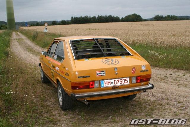 Passat 32 1976 Rallye rollout heckansicht