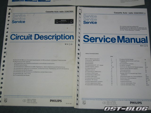 Philips 994 service manual