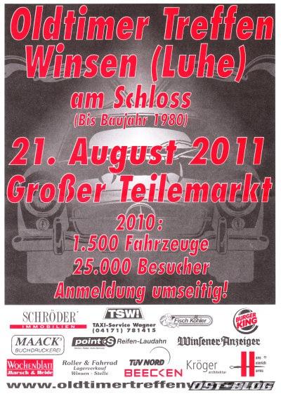 Oldtimertreffen winsen-Luhe 2011 flyer