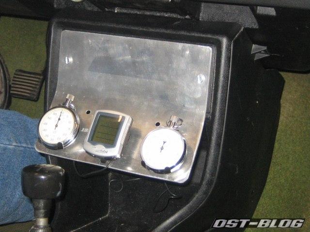 Rallyekonsole Passat 32 1976 eingebaut