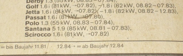 Bosch w5DC Zündkerze Passat 76