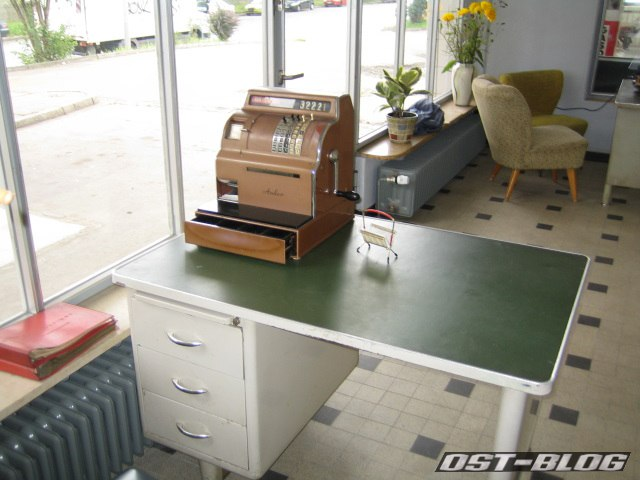 Oldtimer-Tankstelle Kasse