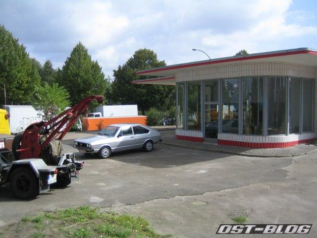 Oldtimer-Tankstelle Passat 1977