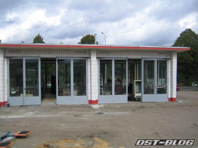 Oldtimer-Tankstelle Prüfhalle