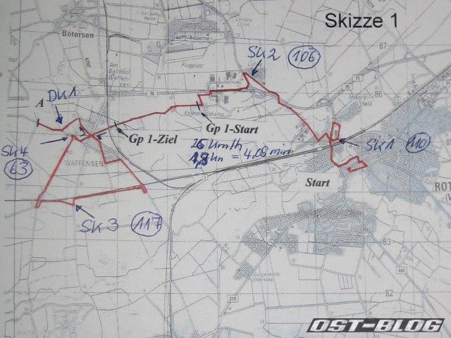 Rallye Rotenburg Skizze bordbuch