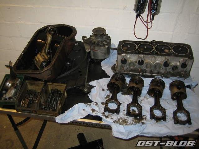 Motor kolben Zylinderkopf ölpumpe passat 32 1976