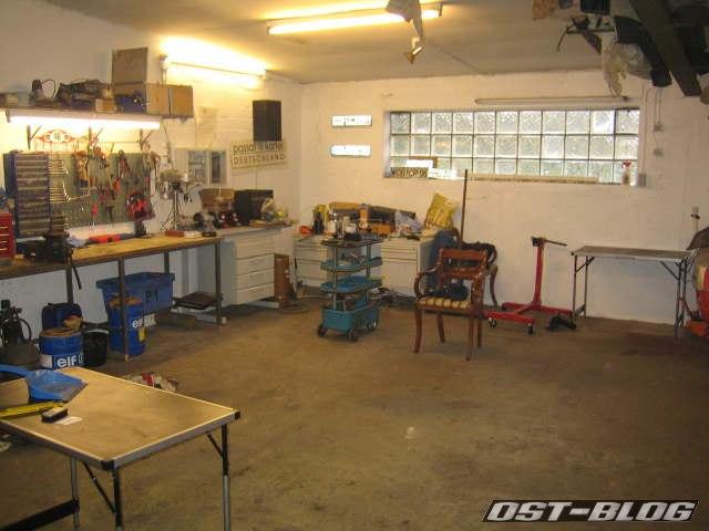 Werkstatt aufgeräumt