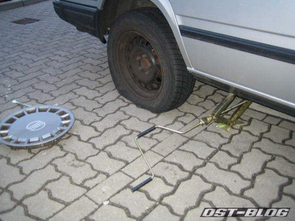 Reifen platt