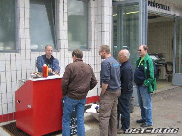 Passat-Treffen Hamburg Oldtimer-Tankstelle Grill