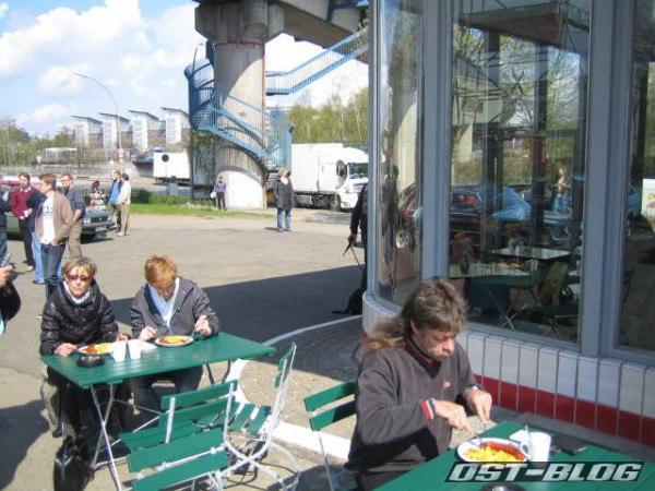 Passat-Treffen Hamburg Oldtimer-Tankstelle Pommes