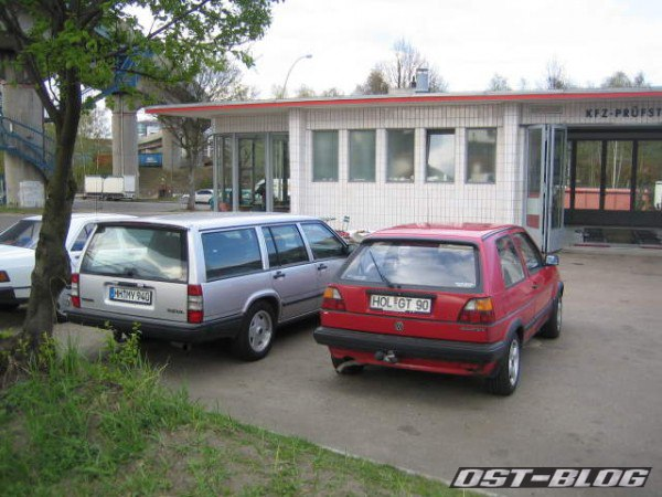 VW Golf 2 Volvo 940 Oldtimertankstelle Hamburg