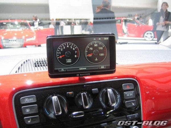 VW Up Navigon Fahrzeuginformationen