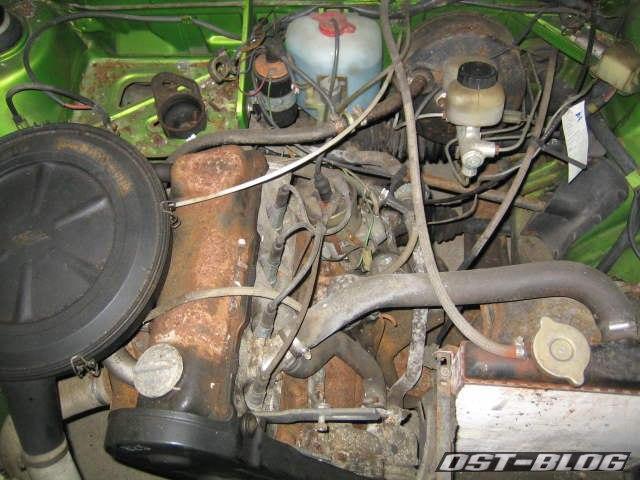Motorraum Passat TS 1975