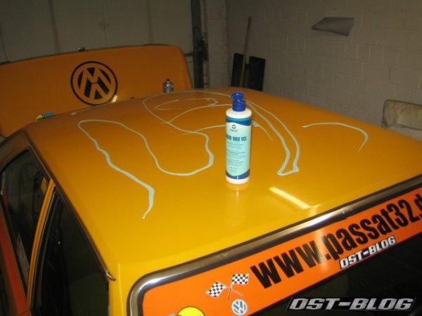 Rallye-Passat Dach polieren