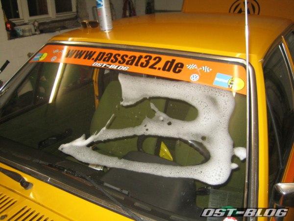 Rallye-Passat Scheibenreinigung