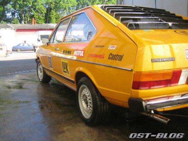 Rallye-Passat gewaschen