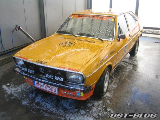 Rallye-Passat waschen
