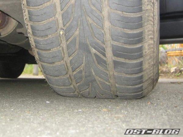 Schraube im Reifen Volvo 940