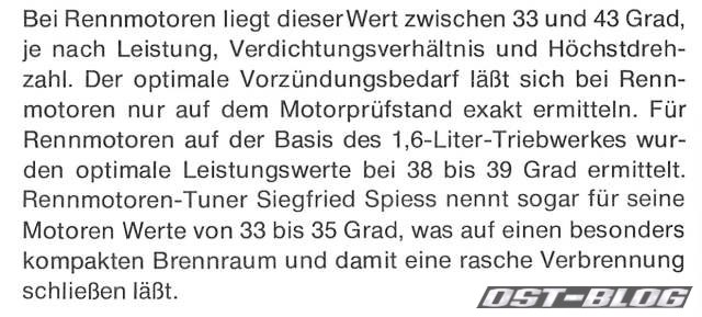 Vorzündung VW Passat 32 1976