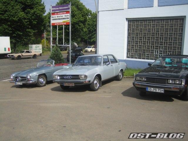 Oldtimer-Tankstelle Audi 100