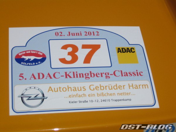 Rallyeschild Startnummer