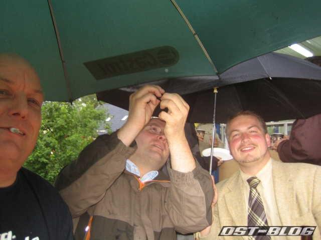 Golf 1 Treffen 2012 Regenschirm
