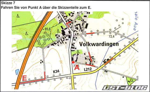 Karte Volkwardingen