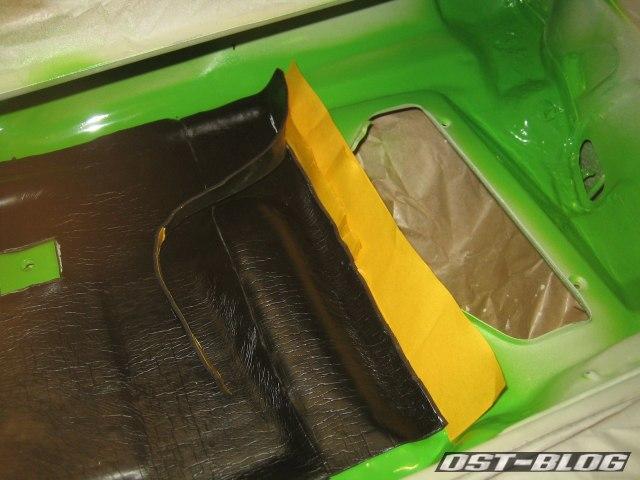 Passat TS Bitumenmatte schneiden