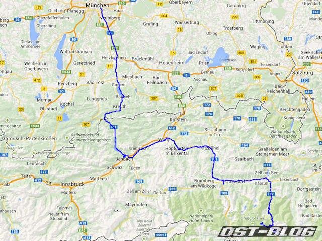 Großglockner Karte.Alpentour Tag 1 München Heiligenblut Ost Blog