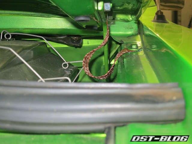 Masseband-motorhaube
