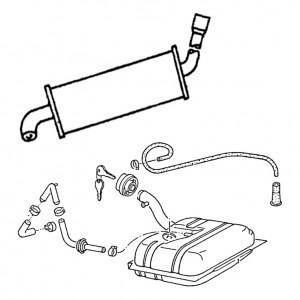 Hauptgruppe 2 - Krafstoffbehälter und Rohre, Abgasanlage